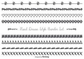 Cute Messy Hand Drawn Border Set