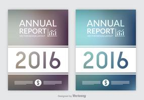 Free Annual Report Designs Vector