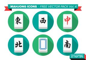 Mahjong Icons Free Vector Pack Vol. 4