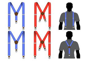 Men's Suspenders Vectors