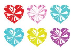 Vector Strass Hearts