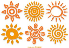 Hand Drawn Sun Vectors