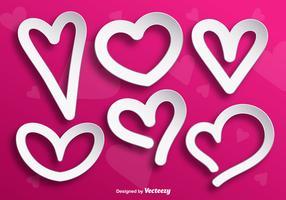 White Heart Shape Vectors