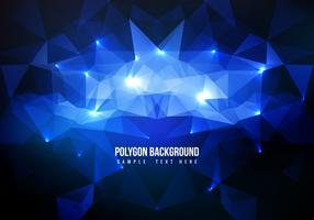 Free Blue Polygon Vector Background