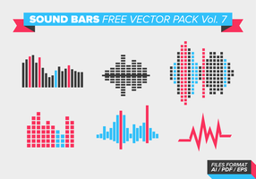 Sound Bars Free Vector Pack Vol. 7