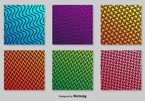 Retro ZigZag Vector Patterns