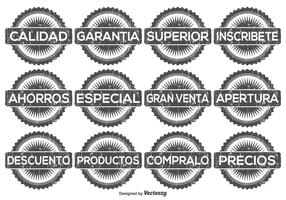 Distressed Spanish Promotional Label Set
