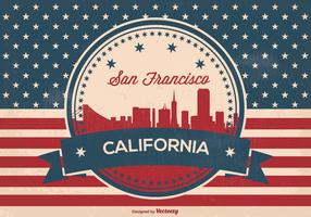 Retro Style San Francisco Skyline Illustration