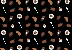 Free Coffee Pattern Vector