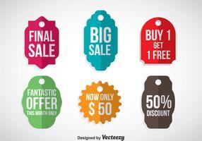 Promotion Labels Vector