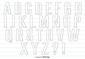 Hand Drawn Alphabet Set
