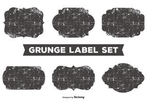 Messy Grunge Label Set