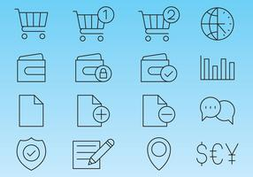 Line Icons For Shop