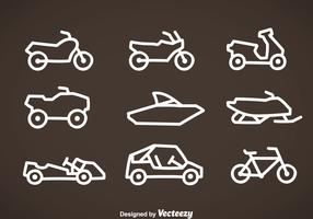 Vehicle Line Icons Vector
