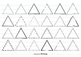 Hand Drawn Triangle Shape Set