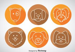 Dogs Long Shadow Icons