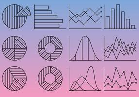 Line Statistics Icons