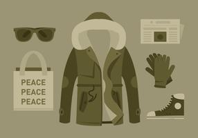 Vector Hipster Coat and Accessories