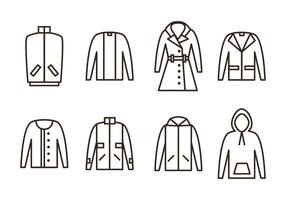 Winter Coat Vector Icons
