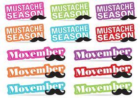 Movember Title Vectors