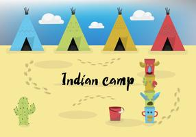 Free Vector Indian Camp
