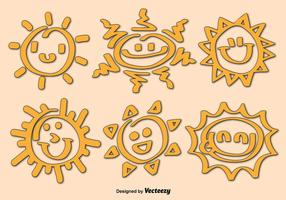 Cartoon Sun Icon Vectors