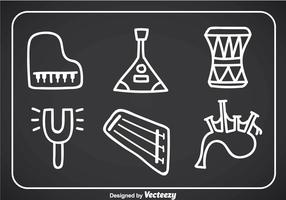 Music Instruments Doodle Vector Icons