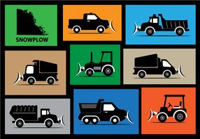 Snow Plow Vector Silhouette