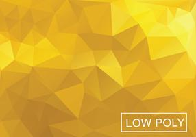 Yellow Poly Vector Background
