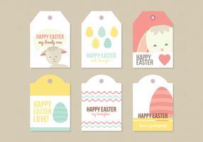 Vector Easter Labels