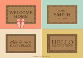 Free Vector Welcome Mat Designs