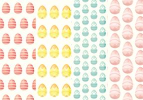 Vector Easter Eggs Patterns