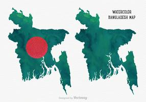Free Vector Watercolor Bangladesh Map