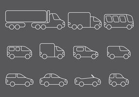 Line Vehicle Icons