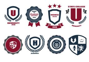 Free School Crests And Logo Vector