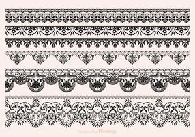 Free Vector Lace Vector Borders