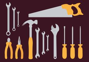 Monkey Wrench Tools Illustration Vector