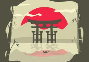 Torii Asian Landscape Background