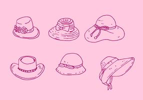 Ladies Hat Vector Set