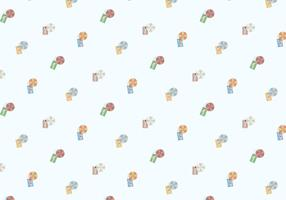 Sunbathing Icons Pattern