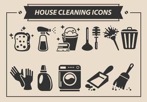 Limpieza de la casa iconos vectoriales