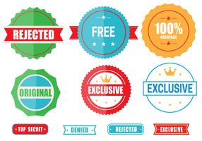 Free Colored Emblems Vector