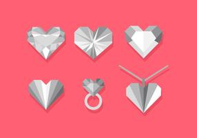 Vector Heart Strass Set