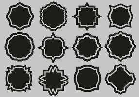 Free Labels Set Vector