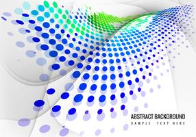 Free Colorful Halftone Wave Background Vector