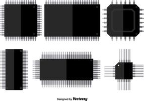 Microchip Vector Icons