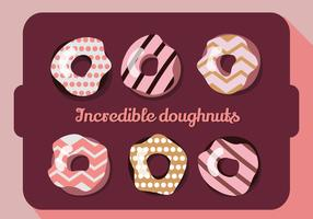 Free Set of Colorful Donuts Vector Background