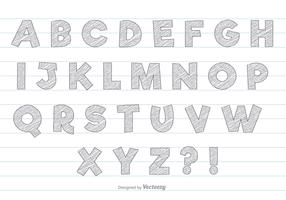 Grey Scribble Style Alphabet Set