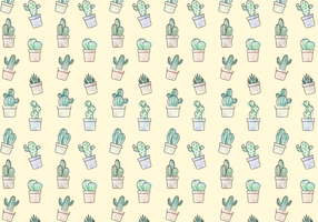 Free Cactus Pattern Vector