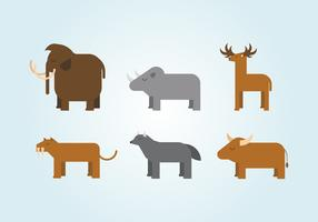 Vector Ice Age Animals